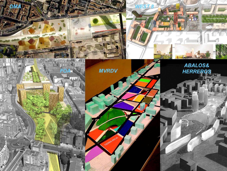 Las cinco propuestas presentadas a concurso. Octubre 2004.