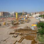 OBRAS. Zona de acopio de materiales de la Fase 1. LIF2002. Enero 2010
