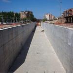 OBRAS. Cajón ferroviario. F. Díaz La Rioja. Junio 2010