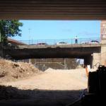OBRAS. Puente de Vara de Rey desde el falso túnel. LIF2002. Julio 2010