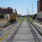 OBRAS. Colocación traviesas de las vías provisionales. 2008