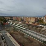OBRAS. Vista de los andenes de la Fase Previa terminados. 2008