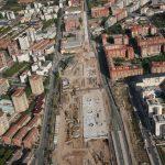 Vista aérea de la obra del soterramiento, Fase 1, 2010