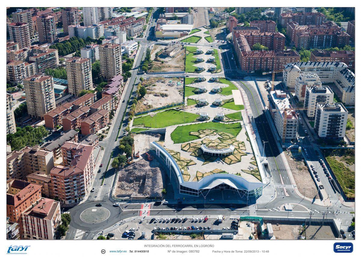 Vista aérea del Parque Felipe VI, 2012
