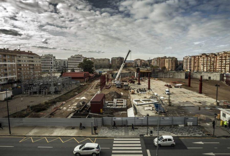 Vista desde el Parque de la obra de la estación de autobuses, Justo Rodríguez