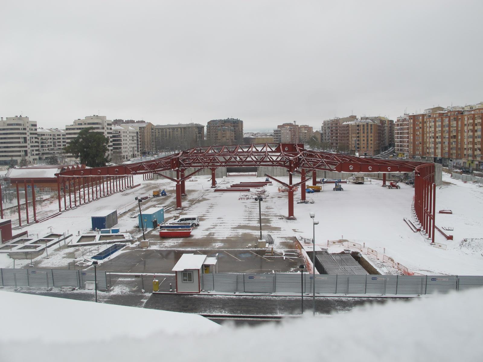 Estado de las obras de la Nueva Estación de Autobuses, febrero 2018