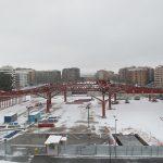 Vista de la estructura de la estación de autobuses, febrero 2018