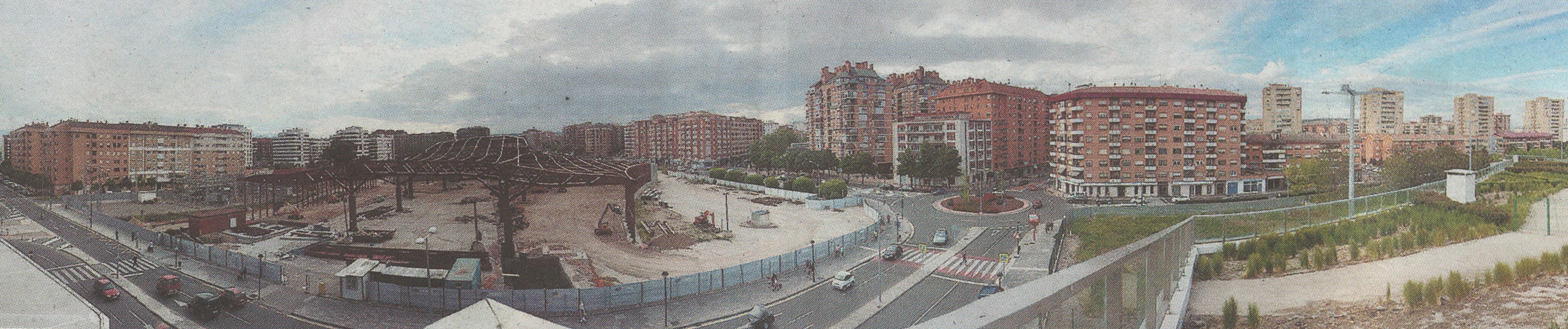 Vista de la obra de la nueva Estación de Autobuses, mayo 2018