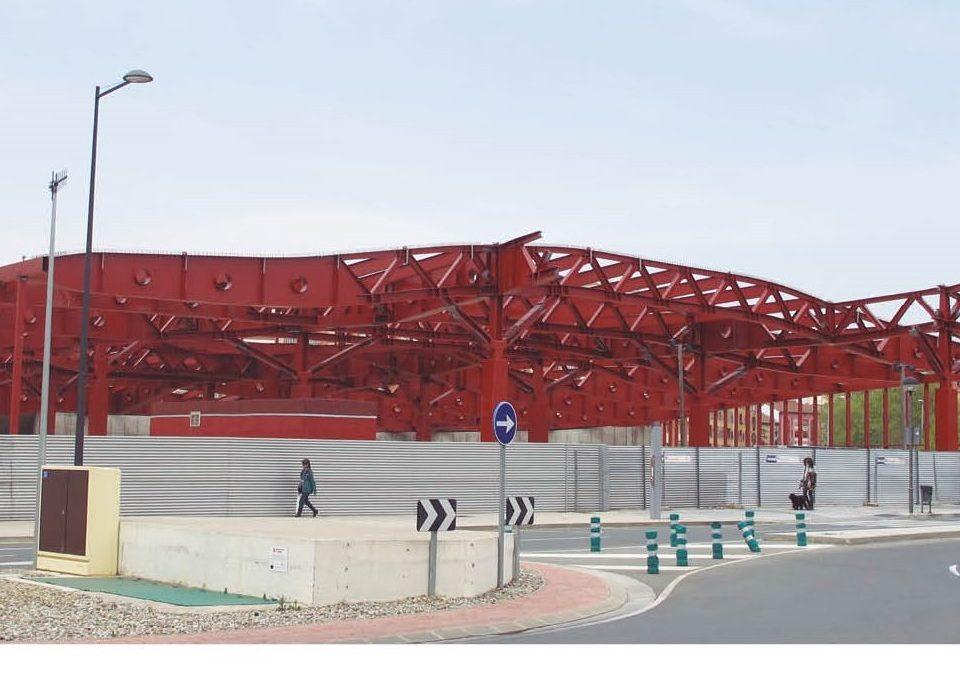 Vista de la futura Estación de Autobuses, mayo 2018