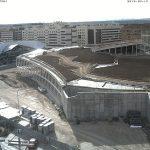 Imagen de las obras de la nueva estación de autobuses, marzo 2019