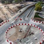 Imagen de las obras de Urbanización del entorno de vara de Rey, marzo 2019