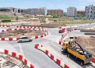 El nuevo vial, ayer, tras su entrada en funcionamiento. Enrique Del Río