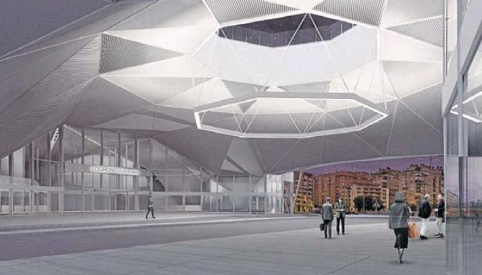 Imagen de la nueva Estación de Autobuses desde Avenida Colón