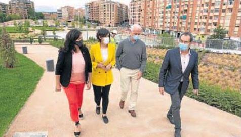 Andreu, Marrodán, Hermoso y Ábalos pasean por el entorno