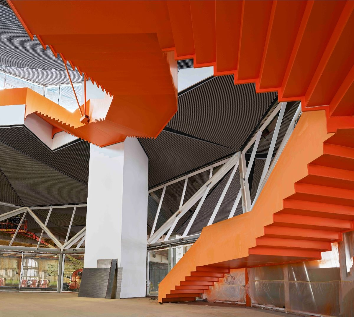 Escalera de acceso al parque