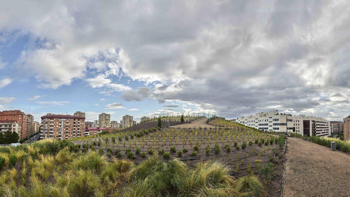 Parque Urbano y Cúpula ajardinada, estación Intermodal de Logroño 2020