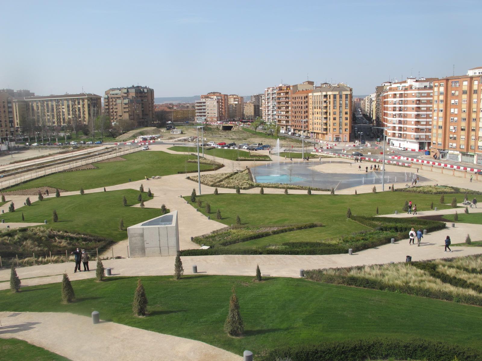 Vista del parque desde la colina