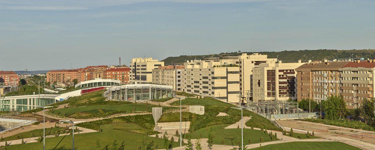 Vista general del parque diseñado por Ábalos+Sentkievicz y Teresa Galí, Jesús Rocandio 2020
