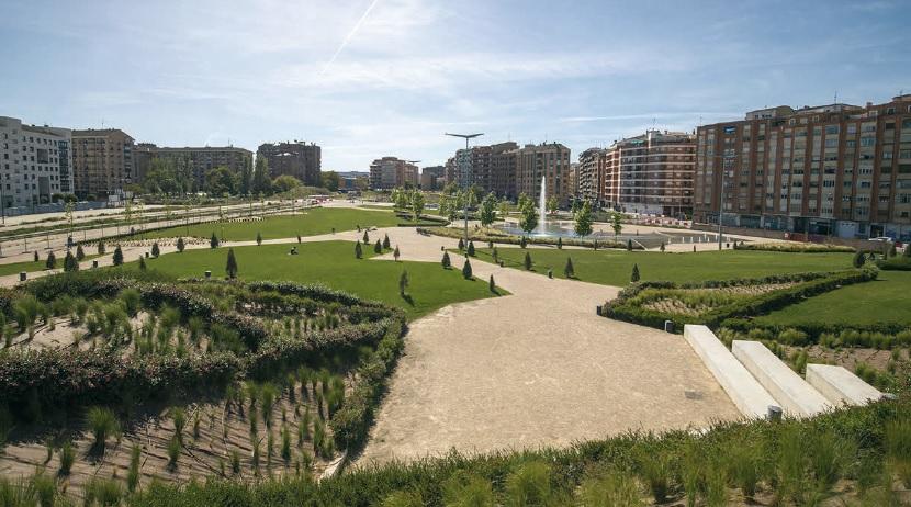 La fase II del parque Felipe VI ha puesto a disposición de la ciudad 27.000 metros cuadrados de zona verde